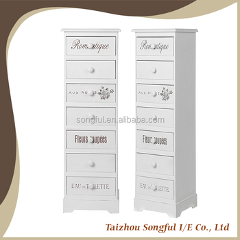 High square closet cabinet with 7 drawers cabinet with silk print