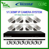 8 CH IP CAMREA NVR Kit,3g front camera android mobile,outdoor p2p waterproof array led 60m night vision