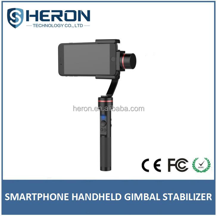 Newest smartphone released handheld gimbal camera 3 axis brushless handheld stabilizer gimbal for Gopros