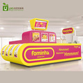 best selling fast food display counter with pizza potato chips kiosk for shopping mall