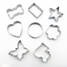 cake&sweet Set of 8 pcs stainless steel cookie cutter including dog bone cookie cutter