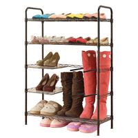 XM_422 5 Tier Home metal shoe rack stand Shoe Cabinet Boot Racks Multifunctional Space Saving Organizer