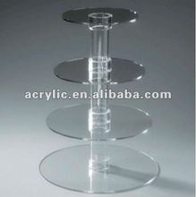 4 Tires round acrylic cake pop display stand