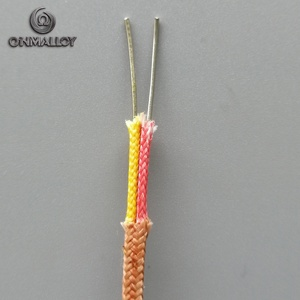 Thermocouple & Extension Wire Type K 20 AWG -60 to +400 Degree Celsius 2 Solid Core Glass Fiber Sheath