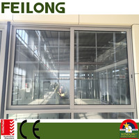 FL100 series aluminium commercial sliding window double-hung windows passed AS2047 standard