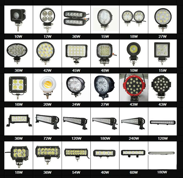 High quality 60w 12pcs led work light bright 3 sides work light