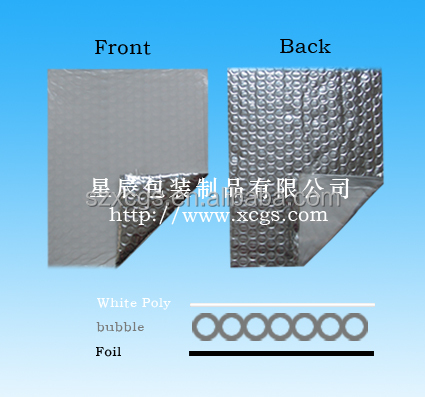 Aluminum Foil Single Bubble Cushion White Poly Heat Resistance Building Material