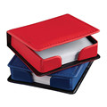 ODM OEM Colorful Square Leather Desk Note Pad Holder