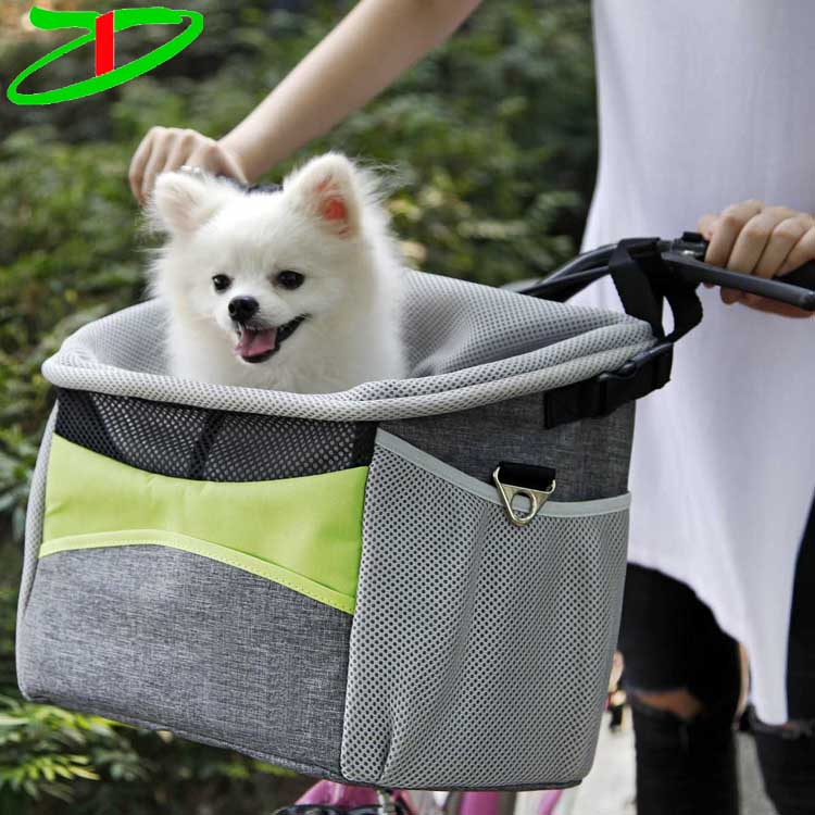 Bsci Audit Factory Outdoor Bike Sports Cat Carrier Basket Pet Bicycle Front Dog Carrier