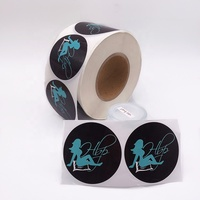 Custom Packaging Printed Stickers PVC Waterproof Non Removable Stickers Logo In Roll