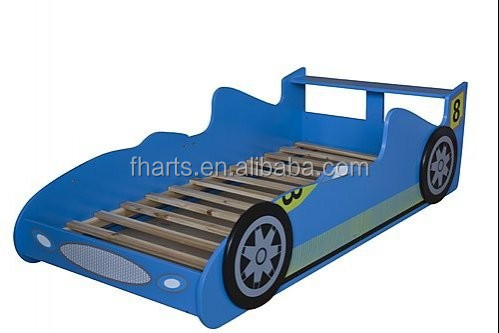 Children bedroom furniture kids car bed for boy