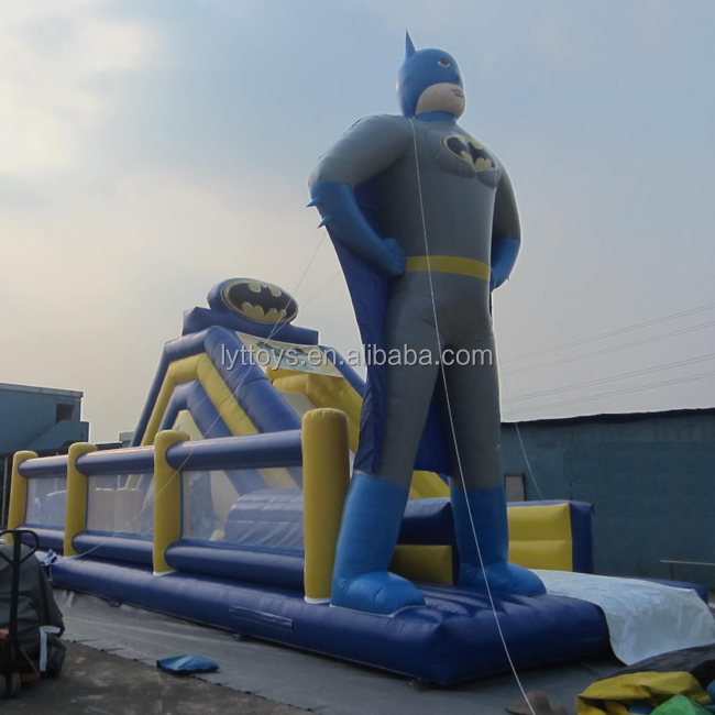 Children Favorite inflatable batman jump bounce house giant inflatable slide bouncer
