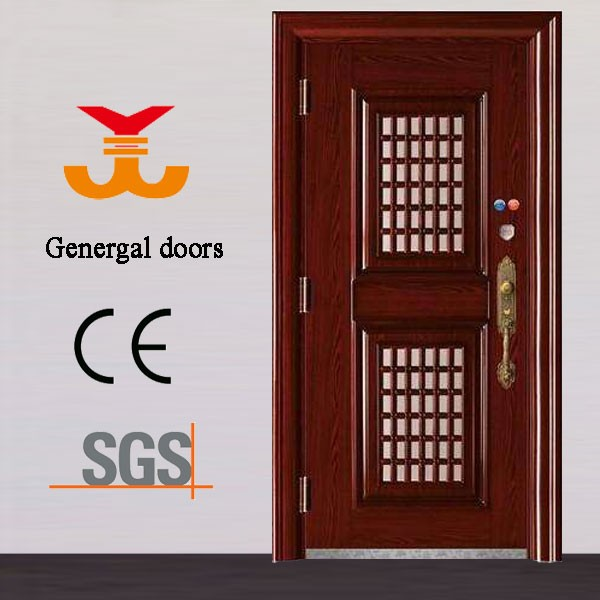 Steel Safety Door Design With Grill