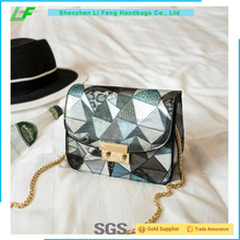 Beautiful trendy styles colorful printing female bag handbag made in china