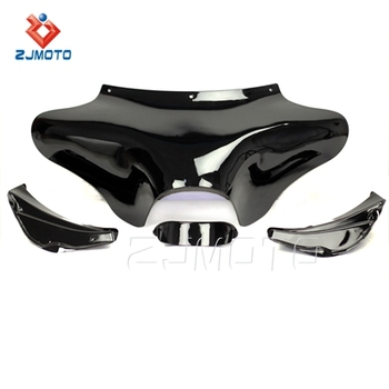 Hot Selling ZJMOTO Motorcycle Black Front Batwing Fairing For Harley Davidson Softail Road King FLST FLHR
