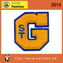 2015 cheap excellent quality chenille patch with letter