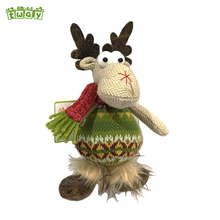 6'' Small xmas ornament hanging deer stuffed decorative reindeer christmas decorations wholesale