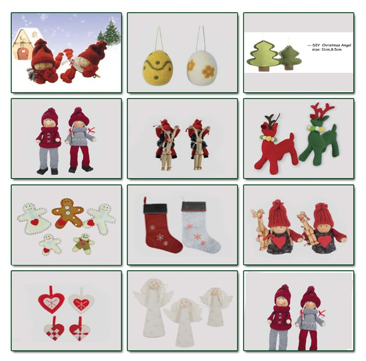 Handmade wooden decorations- dolls
