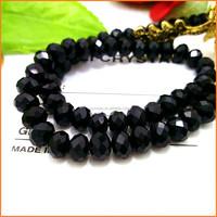 YGR004 China YIWU Factory Black Round Crystal Beads for bracelet