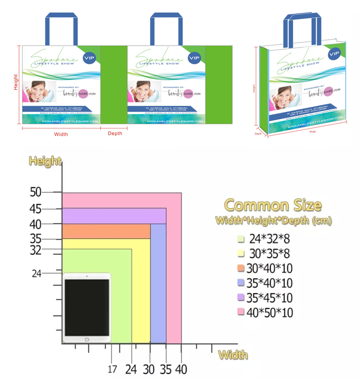 Wholesale Tote Non Woven Bag with Zipper Promotional Shopping Bag Reusable Bag