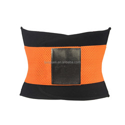 Black and orange waist trimmer sport running belt with private lables