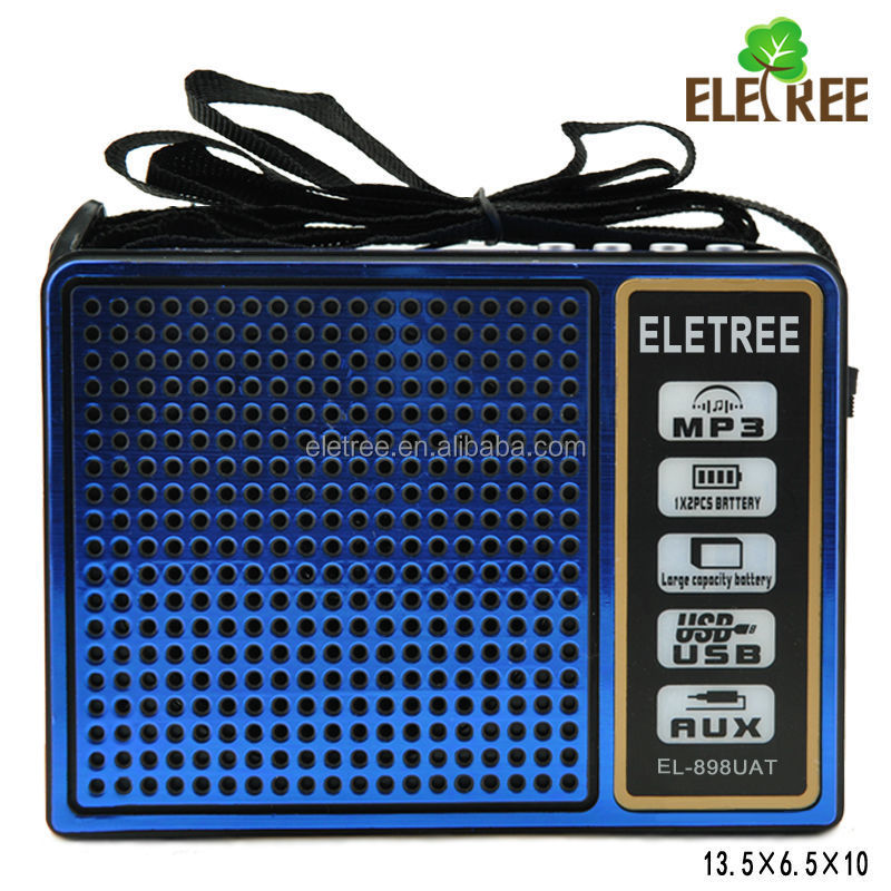 Deluxe Worksite FM Utility Radio With USB/SD MP3 Player/Torch Light Receiver(EL-898UAT)