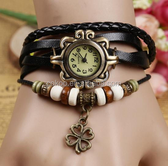 2015 custom-made leather watches women watch