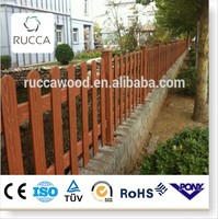 2016 WPC Wood composite slat garden fence price