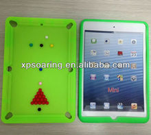 for mini ipad designed snooker silicone case back cover