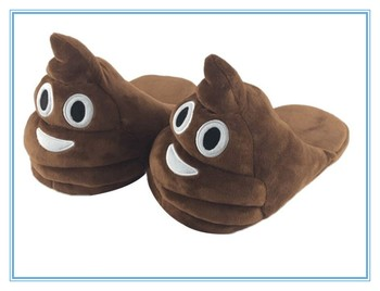 Cheap Wholesale Adult Size Emoji Slippers Winter Bedroom Plush Emoji Slippers