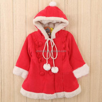 kid wear cute animal christmas coat high quality clothing factory 2016