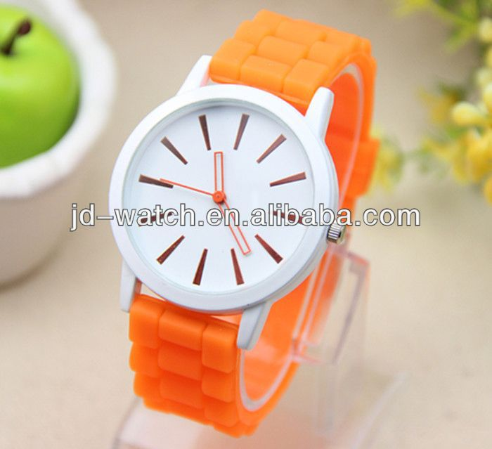 silica gel watch women slim silicone sport watch
