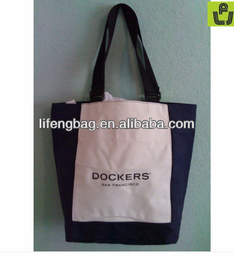 recycle and high quality beautiful garment advertising canvas bag