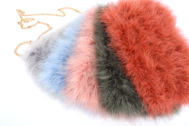 Ladies Fashion Evening Handbag Real Fur shoulder Bag