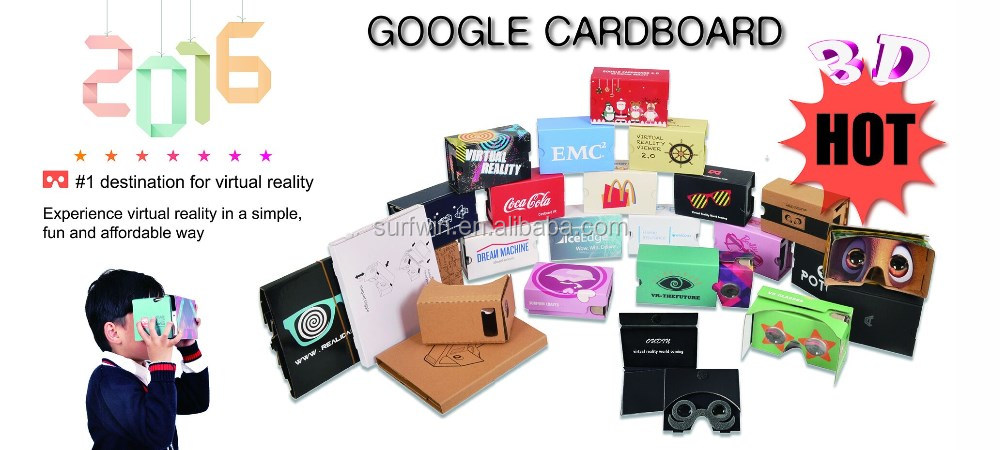 Customized virtual reality google cardboard vr V1.2 VR Cardboard glasses