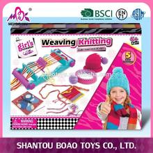 hot sale girls multi-function knitting set DIY craft weaving hat and bracelet machine toys