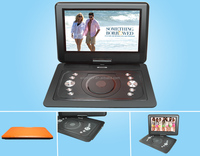 "2015 Wicreator 14.1"" Portable DVD Portatil Player Widescreen Supports SD Card and USB Direct Play reproductor de dvd portatil"