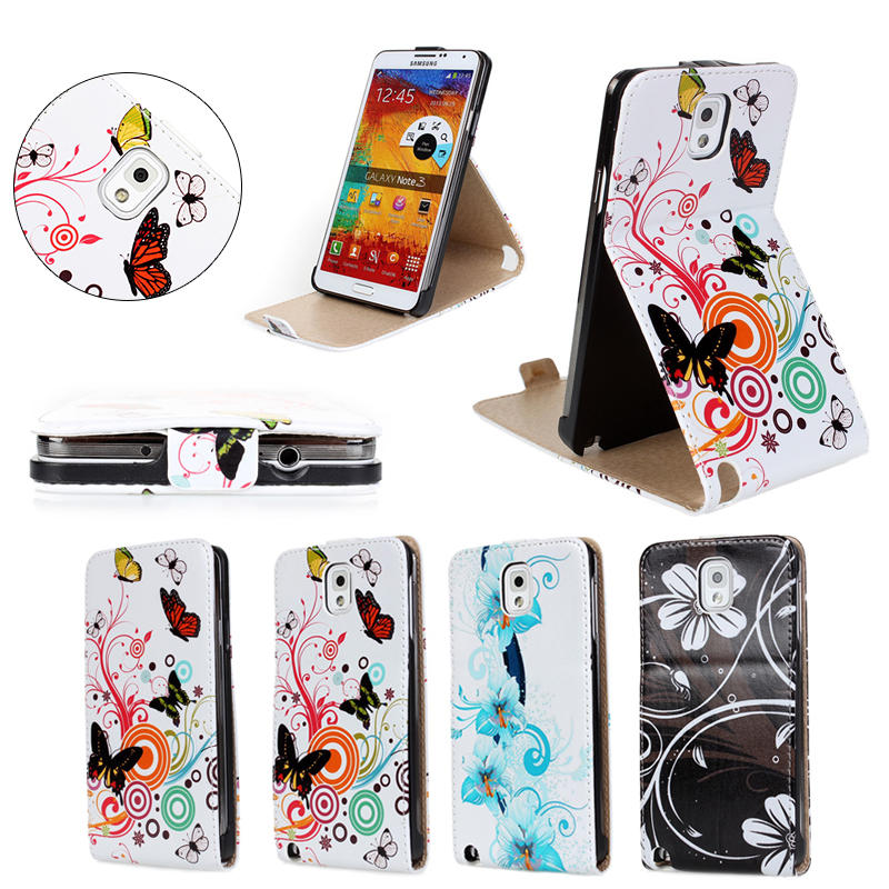 New Mobile Phone Accessory for Samsung Galaxy Note 3 case for N9000 Slim Cover Case for Samsung Note 3 Flip Folio Cover Stand