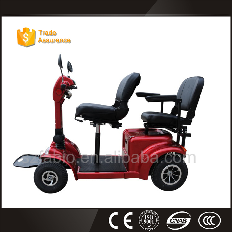 high quality 4 wheels red disabled mobility scooter car