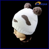 HZM-13980004 2015 popular Designer stylish newborn baby toddlers winter animal knit cap
