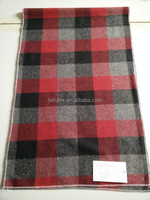 black /red/grey check woolen cloth fabric