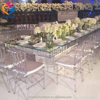 wedding dining party rectangle black tempered glass top crystal gold stainless steel table for event