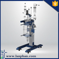 Lab Jacketed Double-layer Glass Chemical Stirred Reactor for Sale