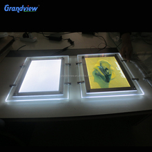 A0 A1 A2 A3 A4 Super bright phone pictures led crystal light box frame