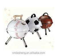 2015 New mini portable soccer ball charcoal bbq grill