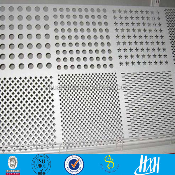 1 mm Aluminum Metal perforated sheet for window, punching hole mesh facade , fence decoration