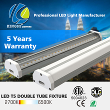Dimmable Led T5 T8 Double Fluorescent tubes Ceiling Light Fitting With Price ul etl dlc