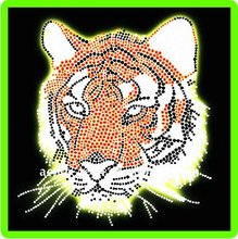 Tiger Hot Fix Rhinestone Motif . iron on motif