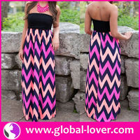 2015 hot sexy tall tube women sexy hippie flowing maxi dress