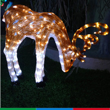 24V led reindeer 3d light,christmas decoration led light reindeer,light up christmas reindeer